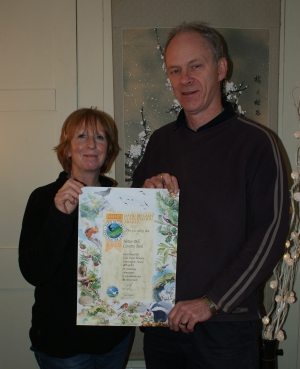 Celia and Ray with Bellamy certificate